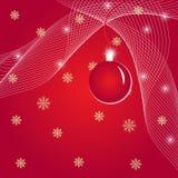 Illustration de Noël avec la bille Photos libres de droits
