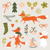 Illustration de Noël, carte de Noël Photo stock