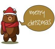 Illustration de Noël de bande dessinée d'ours Images stock