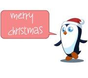 Illustration de Noël de bande dessinée de pingouin polychrome Photographie stock libre de droits