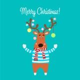 Illustration de Noël de renne de bande dessinée Vecteur Photos libres de droits