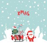 Illustration de Noël de Santa Claus Photo stock
