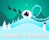 Illustration de Noël heureux 3d d'expositions des salutations de la saison illustration stock