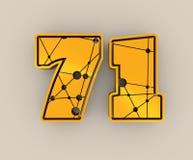 illustration de 71 nombres Photo stock