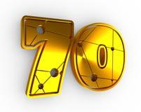 illustration de 70 nombres Images stock