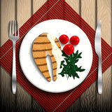 Illustration de nourriture Photo libre de droits