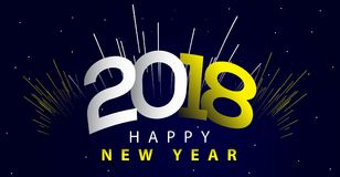 Illustration 2018 de nouvelle année Photos stock