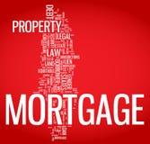 Illustration de nuage de mot d'hypothèque Image libre de droits