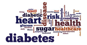 Illustration de nuage de tags de Word de diabète illustration libre de droits