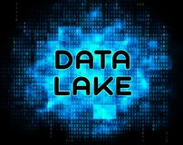 Illustration de nuage de Digital Datacenter de lac data 2d Image stock