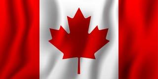 Illustration de ondulation réaliste de vecteur de drapeau de Canada Compte national Images libres de droits