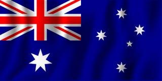 Illustration de ondulation réaliste de vecteur de drapeau d'Australie Co nationale illustration libre de droits