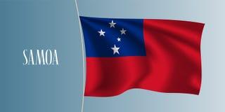 Illustration de ondulation de vecteur de drapeau du Samoa illustration stock