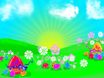 Illustration de Pâques Images libres de droits