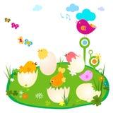 Illustration de Pâques Photos libres de droits