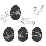 Illustration de Pâques aux nuances froides illustration libre de droits