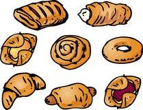 Illustration de pâtisseries Photos libres de droits