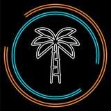 Illustration de palmier de vecteur - icône de voyage illustration de vecteur