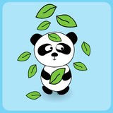 Illustration de panda mignon de bande dessinée Image stock