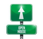illustration de panneau routier de maison ouverte Images stock