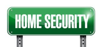 Illustration de panneau routier de sécurité à la maison Images stock