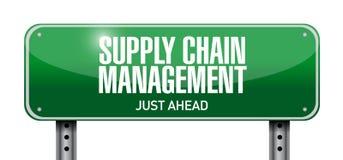illustration de panneau routier de supply chain management Photo stock