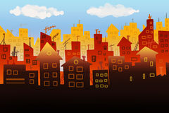 Illustration de panorama de ville Image stock