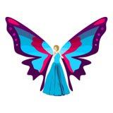 Illustration de papillon de femme Image libre de droits