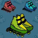 Illustration de patins de rouleau Image libre de droits