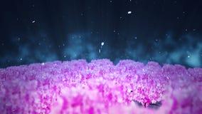 Illustration de paysage de forêt de ressort, fond abstrait de nature, animation de boucle de fleurs de cerisier, clips vidéos