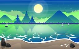 Illustration de paysage de plage Photo libre de droits