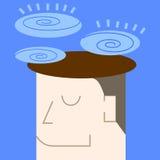 Illustration de pensée et d'imagination Image stock