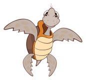 Illustration de personnage de dessin animé mignon de tortue de mer Image libre de droits