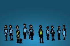 Illustration de personnes de dessin Photo libre de droits
