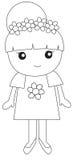 Illustration de petite fille illustration stock