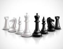 Illustration de pièces d'échecs illustration de vecteur