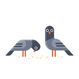 Illustration de pigeons de bande dessinée illustration de vecteur