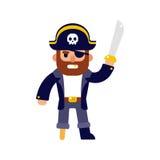 Illustration de pirate de bande dessinée Photo stock