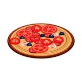 Illustration de pizza Conception de vecteur Photos libres de droits