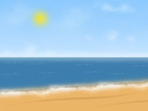 Illustration de plage Photos stock