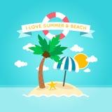 Illustration de plage d'été Images libres de droits