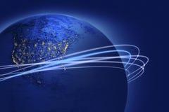 Illustration de planète avec des boucles Illustration Libre de Droits