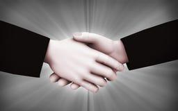 illustration de poignée de main des hommes d'affaires 3d Images libres de droits
