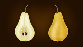 Illustration de poire Photos libres de droits