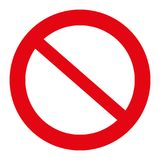 Illustration de poteau de signalisation, non permise le signe, d'isolement sur le blanc, vecteur d'illustration photographie stock