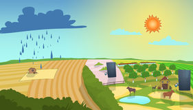 Illustration de prévisions météorologiques Photo stock