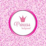 Illustration de princesse Crown Frame Vector Image libre de droits