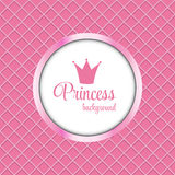 Illustration de princesse Crown Frame Vector Photos libres de droits