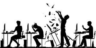 Illustration de rébellion d'employé de bureau Photographie stock