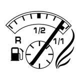 Illustration de réservoir de gaz Image stock